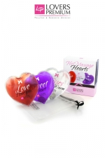 Coeurs chauffants x3 : 3 Coeurs chauds de massage, pour une intimité accrue en quelques secondes!