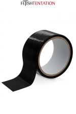 Ruban de soumission noir 15m - Fétish Tentation : Ruban de soumission auto-fixant en PVC noir pour vos jeux intimes, 15 mètres de long par 5 cm de large.
