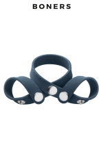 Séparateur de testicules 8 styles - Boners : A la fois ball splitter et cockring, 100% réglable, pour le look, pour plus de sensations et pour améliorer vos performances..