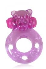 Power Ring Bear : Un anneau vibrant à enfiler sur le sexe pour faire monter le plaisir des deux partenaires pendant les rapports sexuels.