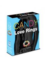 Candy love rings : 3 cockrings en bonbon pour des préliminaires sucrés.