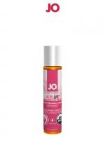 Lubrifiant BIO fraise des champs 30 ml : Lubrifiant certifié Organic parfum fraise des champs, fabriqué aux USA sans Glycerine, sans parabène et sans glycol. Aux extraits de camomille, 30 ml