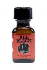 Poppers All Black 24 ml : le poppers exclusif du fabricant de godes géants All Black,  basé sur la molécule historique à l'Isopropyle
